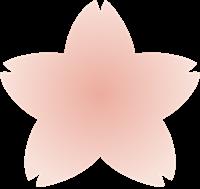 桜の花びらのイラスト①