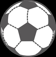 サッカーボールのイラスト①