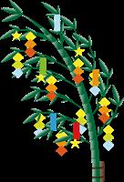 七夕の笹の葉のイラスト
