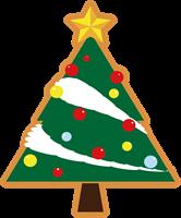 クリスマスツリーのイラスト①