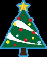 クリスマスツリーのイラスト③