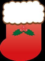 クリスマスの靴下のイラスト①