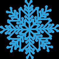 雪の結晶のイラスト①