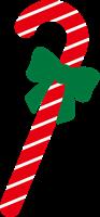 クリスマスのステッキのイラスト