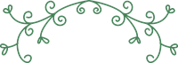蔓(つる)の飾り罫①