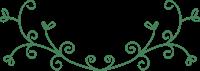 蔓(つる)の飾り罫②