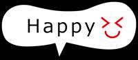 「Happy」の吹き出しスタンプ