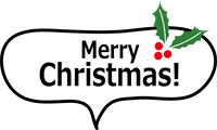 「Merry Christmas!」の吹き出しスタンプ①
