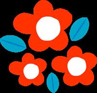 お花のイラスト⑥