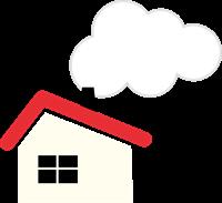 煙突のある家のイラスト
