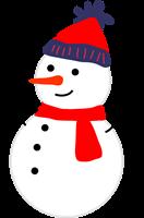 雪だるまのイラスト