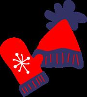 毛糸の帽子と手袋のイラスト