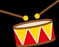 発表会の太鼓のイラスト