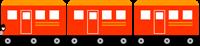 電車の飾り罫①