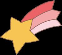 流れ星のイラスト④