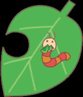 葉っぱと芋虫のイラスト