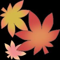 もみじの葉のイラスト④