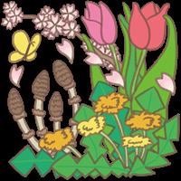 春をイメージした植物のイラスト