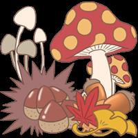 秋をイメージした植物のイラスト
