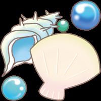 貝と真珠のイラスト