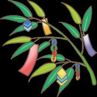 七夕飾りの笹のイラスト