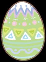 イースターエッグのイラスト(緑色の卵)