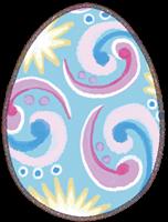 イースターエッグのイラスト(青色の卵)