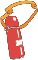 遠足の水筒のイラスト