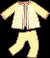 お泊まり保育のイメージのパジャマのイラスト