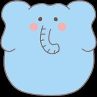 ゾウのスタンプ