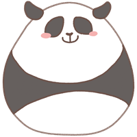 パンダのスタンプ