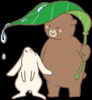 クマのウサギのイラスト