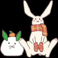 うさぎのイラスト(お正月)