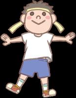 男の子のイラスト(運動会①)