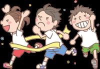 男の子と女の子のイラスト(運動会②)
