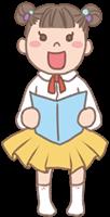 女の子のイラスト(発表会)