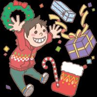 男の子のイラスト(クリスマス①)