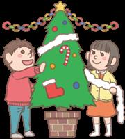 男の子と女の子のイラスト(クリスマス)