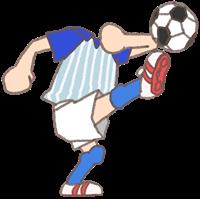 サッカー選手の着せ替えイラスト