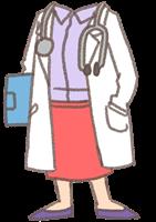 女医さんの着せ替えイラスト