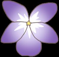 すみれの花のイラスト①