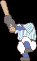野球選手の着せ替えイラスト(体)
