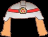 消防士の着せ替えイラスト(ヘルメット)