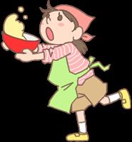 女の子のイラスト(お料理)