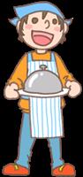 男の子のイラスト(お料理①)
