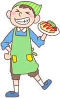 男の子のイラスト(お料理②)