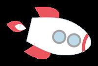 ロケットのイラスト④