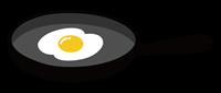 フライパンと目玉焼きのイラスト