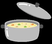 鍋とクリームシチューのイラスト