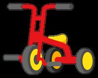 三輪車のイラスト③